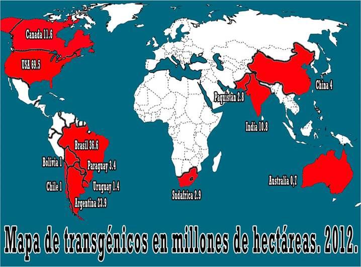 Mapa transgénicos