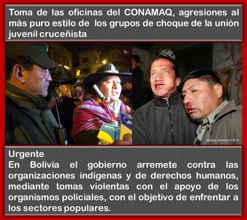 Conamaq toma